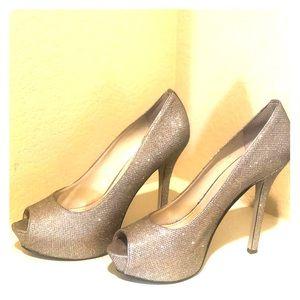 Enzo Glitter platform heels
